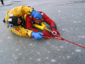 Surface Ice rescue suits